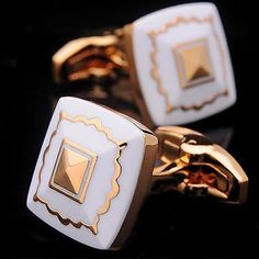 Premium Quality Gold White Pearl KFLK Luxury Cuff-links Gift Box or Pouch Men Accesories, Suit Accessories, Fashion Accessories, Gifts For Him, Gifts For Women, Vintage Cufflinks, Men's Cufflinks, Men's Grooming, Luxury Gifts