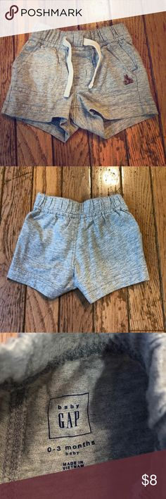 Baby Gap 0-3 Months Gray Shorts Baby Gap 0-3 Months 100% Cotton Never Worn, only washed GAP Bottoms Shorts