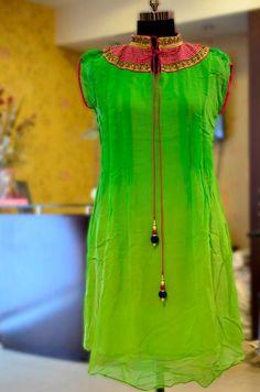 Green kurta design❤️
