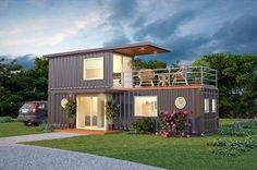 Cargo Container Homes, Shipping Container Home Designs, Storage Container Homes, Building A Container Home, Container Cabin, Container House Plans, Container House Design, Tyni House, Dome House