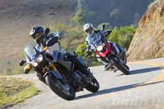 """2013 BMW R1200GS vs. Yamaha Super Tenere – Adventure Bike Comparison BMW's all-new water-cooled """"big"""" GS returns to try to reclaim its adventure-bike crown. Will cooler heads prevail?"""
