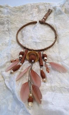 """Clamp """"indian""""look in leather by RosenvingesdesignNO on Etsy"""