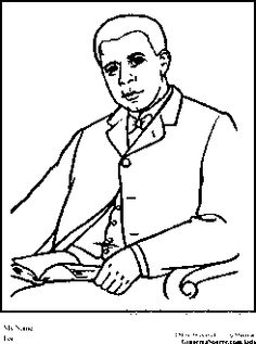 booker t washington coloring pages black history month