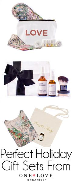 My favorites! The Perfect Holiday Gift Sets from One Love Organics! All-Natural Skincare.
