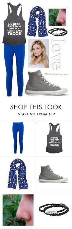 """""""Untitled #146"""" by messboats ❤ liked on Polyvore featuring J Brand, Kenzo, Converse, Tai, Neutrogena and Maria Francesca Pepe"""