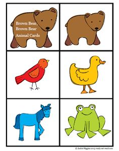 Brown Bear, Brown Bear Animal Card & Color Word Match (not free; from Ready. Set. Read!)