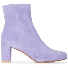 Maryam Nassir Zadeh Agnes 70 ankle boots ($582) ❤ liked on Polyvore featuring shoes, boots, ankle booties, purple, leather boots, real leather boots, short boots, ankle boots and bootie boots