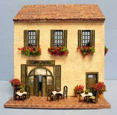 1/144th scale Le Cafe Jardin A scaled mini house for your dollshouse! WANT