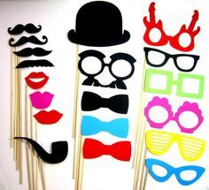 Graduation photo booth ideas | Wedding Photo Booth Props - 21 Piece