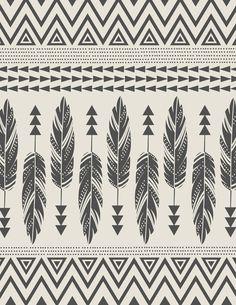 Tribal Feathers-Black & Cream Art Print by Bohemian Gypsy Jane | Society6