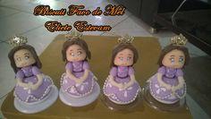 Lembrancinha de aniversário Princesa Sofia em biscuit.