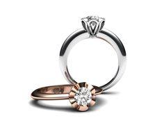 Na přání mého klienta jsem upravil oblíbený prsten z mojí nabídky, na menší 0,50 ct. diamant.