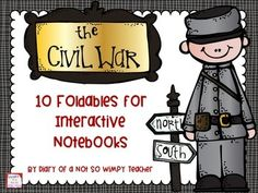 On the sixth day of Christmas, Not So Wimpy Teacher gave to you...Civil War foldables for interactive notebooks!These foldables are a great supplement to your social studies notebooks. If you don't have a social studies notebooks, the foldables can be glued on to construction paper  or a folder.Be certain to follow my store so you receive notifications about the rest of my holiday freebies.