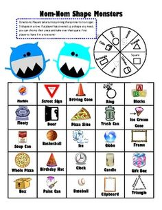 This game is designed to show students 2-D and 3-D shapes in the real world. In the game, students spin the spinner and put a marker on an object t...