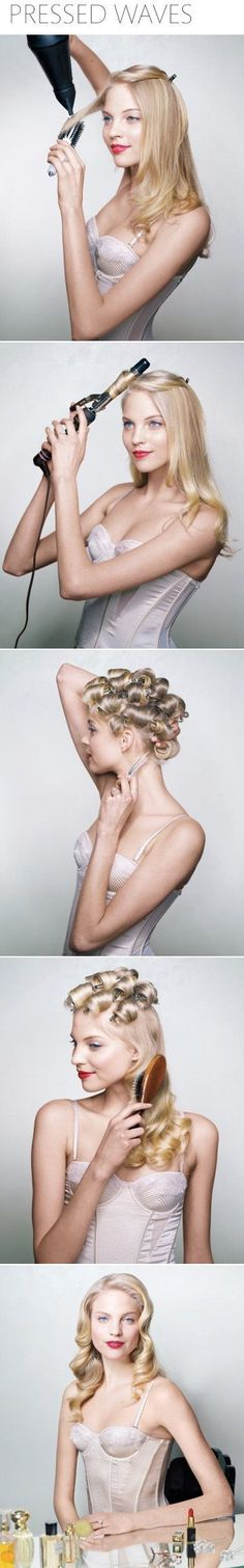 Glamorous Pressed Waves | 24 Statement Hairstyles For The Holiday Party Season #Christmas #thanksgiving #Holiday #quote