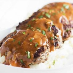 """Do you ever crave the comfort of meatloaf but don't want to spend an hour on dinner? My SKILLET MEATLOAF WITH PAN GRAVY is done in under 30 minutes and is so good! (Search """"meatloaf"""" on my site!) Link  @cocoandash"""