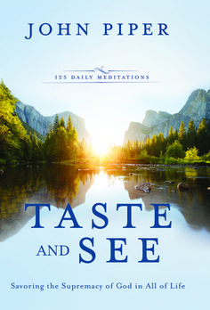 Taste and see that the Lord is good! (Psalm 34:8)  Spiritual hunger longs for rich, substantial nourishment, which is amply served in this collection of solid meat and sweet milk from God's word. Skillfully prepared by pastor and author John Piper, these contemporary meditations will whet your appetite for more of God himself and bring refreshment in your daily communion with Christ.         Piper asks hard questions and finds poignant but practical truths from the Bible on topics as diverse…