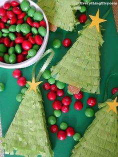 christmas tree piata ornaments holiday tutorial - Christmas Ideas Pinterest