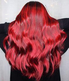 ❤️ ruby red ❤️ happy holidays everyone  #pravana #pravanachromasilk #pravanavivids #christmas #hairbykaylaboyer #hairandmakeupbykaylaboyer
