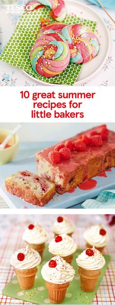 Keep your budding bakers busy during the summer holidays with our sweet and savoury treats. From dinosaur biscuits to frittatas and a chicken pie, our recipes for kids are sure to be a hit. Healthy Summer Snacks, Yummy Snacks, Yummy Treats, Delicious Desserts, Easy Meals For Kids, Easy Food To Make, Kids Meals, Summer Recipes, Holiday Recipes
