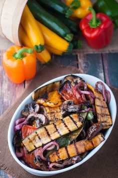 These balsamic marinated grilled vegetables are such a treat. Add some to your next meal, or heck...make the veggies your next meal. So full of flavour!