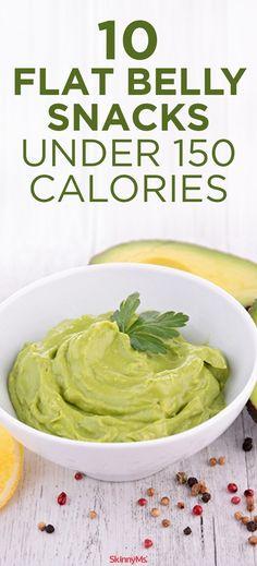 10 Flat Belly Snacks Under 150 Calories. #flatbelly #weightloss