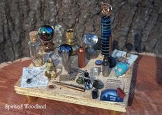Miniature Table  Midnight Alchemy  Table of by SpiritedWoodland, $16.95