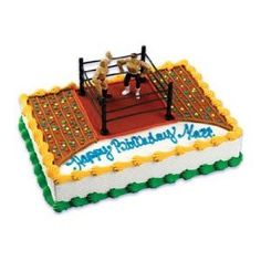 A Birthday Place Wrestlers and Wrestling Ring Cake Kit, Multicolor: Create a wrestling cake with these cake toppers. Each Cake Topper Includes: 2 wrestlers and 1 wrestling ring Wrestling Birthday Cakes, Wrestling Cake, Wrestling Party, Wwe Birthday, Birthday Ideas, Birthday Parties, Kid Parties, Cake Decorating Kits, Birthday Cake Decorating
