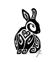 Sitting Bunny Tattoo by Rienquish.deviantart.com on @DeviantArt