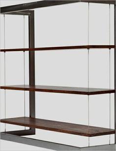 Suspended Bookshelf - Large Bamboo Plywood - http://officedesksbuy.com/suspended-bookshelf-large-bamboo-plywood.html