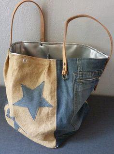L'arte del riciclo è meravigliosa!  Bellissima la borsa che si èuò realizzare con i vecchi jeans :D