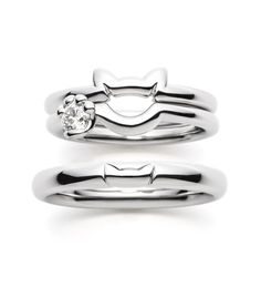 Cat rings in silver More