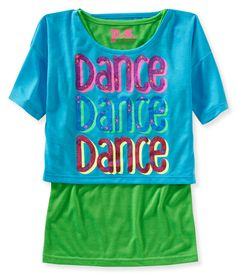 Feel those funky beats even if it's half past your bedtime in our Dance 2Fer Sleep Tee! - PS From Aeropostale