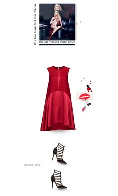 """Blondes are noticed but redheads are never forgotten"" by blonde-bedu ❤ liked on Polyvore featuring Kurt Geiger, Diana Vreeland Parfums, Roger Vivier, Christian Dior and Oscar de la Renta"