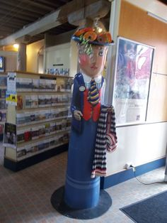 "Geelong, Victoria, Australia - ""Shopping Lady"" Bollard Extra"
