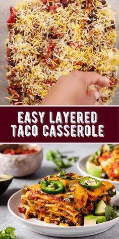 Healthy Mexican Casserole, Easy Casserole Recipes, Casserole Dishes, Mexican Casserole With Rice, Taco Casserole With Tortillas, Tortilla Taco Bake, Recipe With Tortillas, Corn Tortilla Casserole, Mexican Lasagna With Tortillas