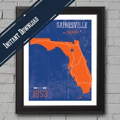 University of Florida Print by UniversityPrints on Etsy, $6.00