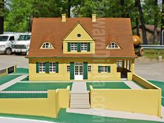 Riehl House Prop - Mies van der Rohe - Howard Architectural Models - Architectural Model