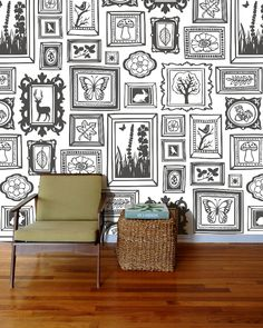 You'd have to have the perfect room though. Diy Wall, Wall Decor, Wall Drawing, Mural Wall Art, Cafe Interior, Home And Deco, Cafe Design, Paint Designs, Frames On Wall