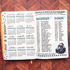 Year At A Glance Layout - Instead Of Bdays I'll Do Wedding Anniversaries