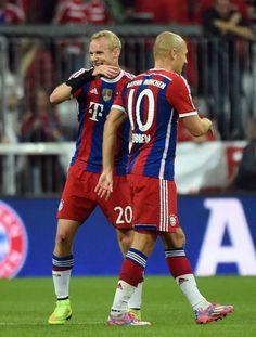 Sebastian Rode and Arjen Robben