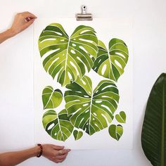 This Monstera print from @livingpattern in #dscolor is