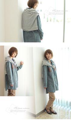 Denim Shirt tunic from Japan!