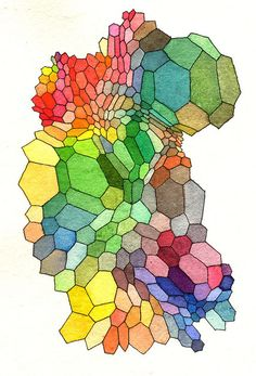 Hex18 by Robert Syrett, one of a collection of gorgeous cellular patterned illustrations on flickr