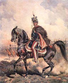Portrait of Prince Jozef on Horseback - Juliusz Kossak