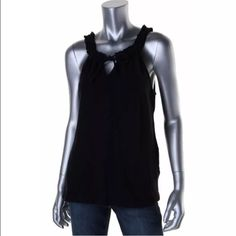 NWT Michael Kors Casual Top Med Brand New Michael Kors Black Casual Top. size medium Michael Kors Tops Tank Tops
