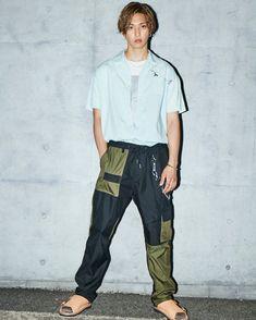 """堀夏喜 di Instagram """"FINEBOYS 9月号 本日発売です🐬 @fineboys_jp"""" Worldwide Handsome, Parachute Pants"""
