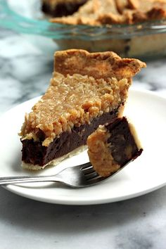 Chocolate Coconut Pecan Pie - This rich decadent pie combines an all butter crust, a chocolate pecan truffle center, and a thick coconut cream topping! A triple threat! Just Desserts, Delicious Desserts, Yummy Food, Tart Recipes, Sweet Recipes, I Heart Recipes, Pie Dessert, Dessert Recipes, Coconut Pecan