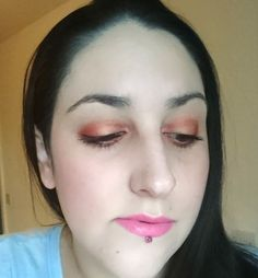 Yesterday's quick birthday #makeupoftheday using Revlon Colorstay foundation Elf Pinktastic blusher 4x shades from my new Urban Decay Alice palette (squee!) Revlon Dramatic Definition Mascara and NYX Tea & Cookies Liquid Suede Lip Cream!