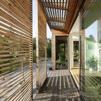 light weight timber screens dappled light and movement
